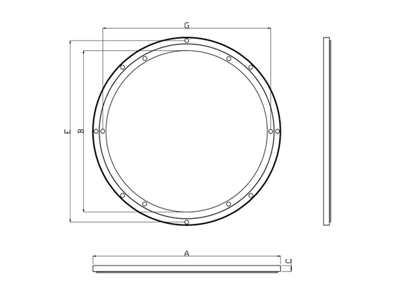 offset style aluminum lazy susan