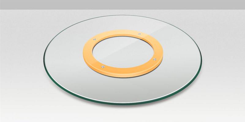 tempered glass lazy susan rotating tray