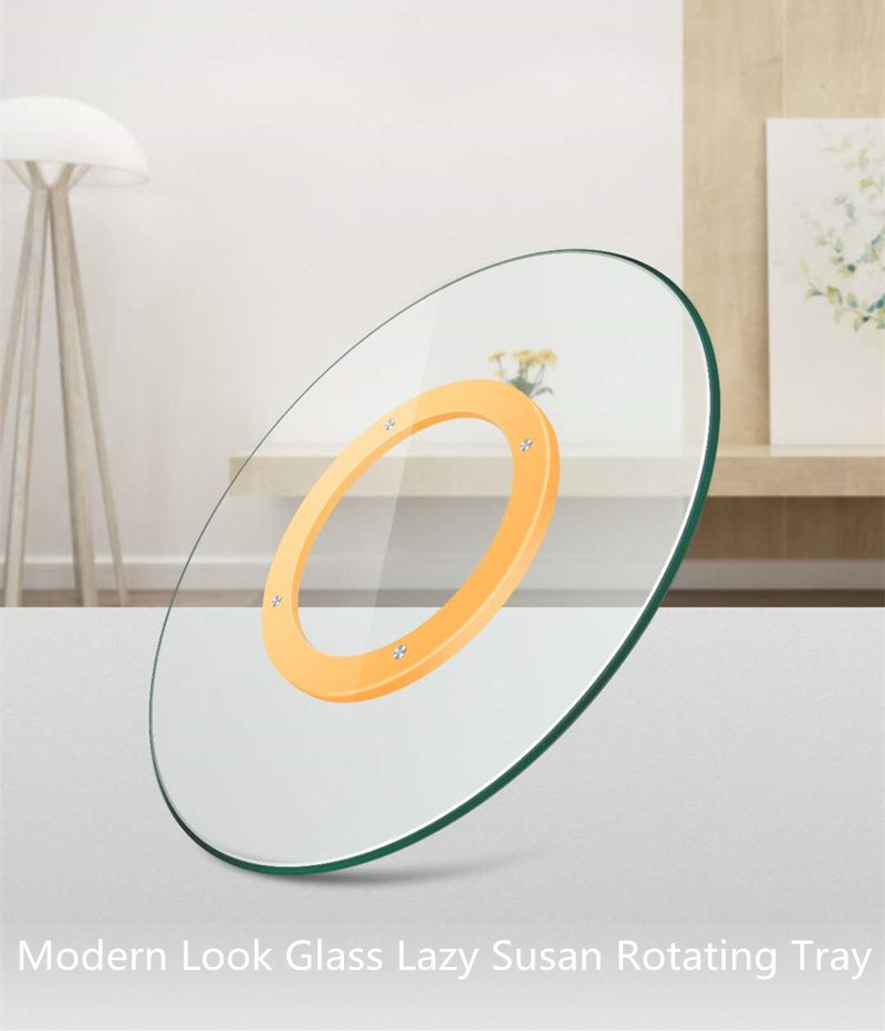 modern look glass lazy susan rotating tray