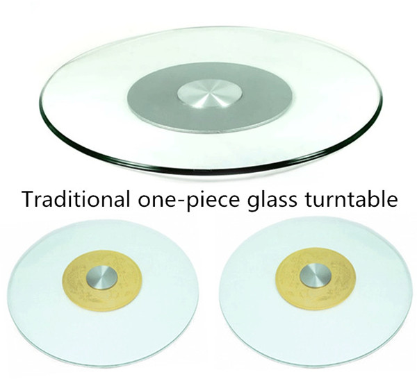 traditional one-piece glass turntable